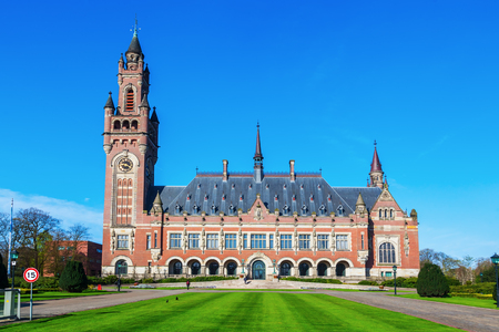 arbitration: Peace Palace in The Hague, Netherlands, that houses the Permanent Court of Arbitration, the International Court of Justice, the Hague Academy of International Law and the Peace Palace Library Editorial