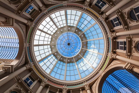 arcade: glass roof of the shopping arcade Passage in The Hague, Netherlands