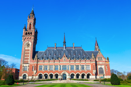 international law: Peace Palace in The Hague, Netherlands, that houses the Permanent Court of Arbitration, the International Court of Justice, the Hague Academy of International Law and the Peace Palace Library Editorial