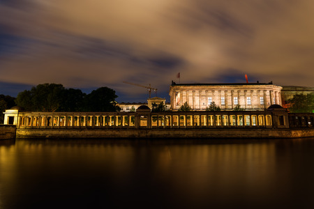 historical reflections: National Gallery on the Museum Island in Berlin, Germany