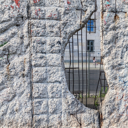 remain of the historic Berlin Wall in Berlin, Germany