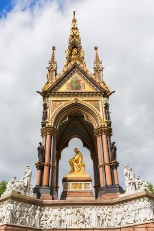 Albert Memorial in London, UK, at Kensington Gardens, in memory of Prince Albert who died of typhoid in 1861