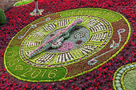 floral clock in Edinburgh, Scotland. It was commissioned in 1903, the first of its kind in the world