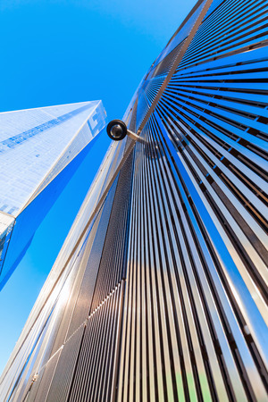 New York City, USA - October 06,2015: One World Trade Center in NYC. Its the tallest skyscraper in Western Hemisphere and 5th-tallest in world built after original WTC what destroyed in terrorist attacks in 2001