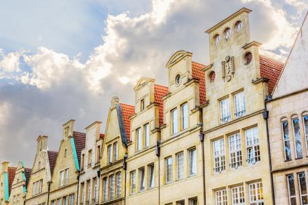 historical gables at Principalmarkt in Muenster, Germany