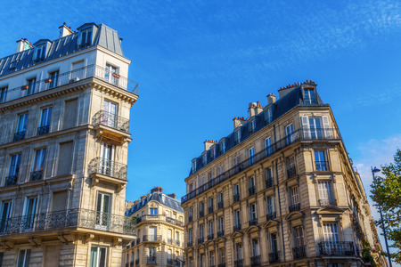 typical: typical old city buildings in Paris, France Stock Photo