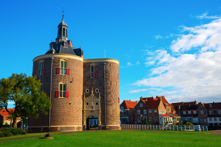 historic gate in the picturesque Enkhuizen, The Netherlands