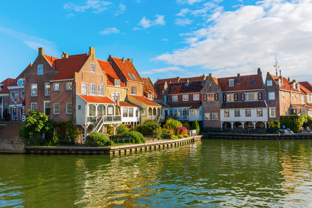 netherland: picturesque scene in Enkhuizen, Netherland