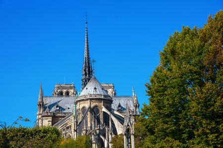 world famous cathedral Notre Dame de Paris in Paris, France