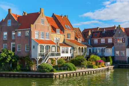 picturesque scene in Enkhuizen, Netherland