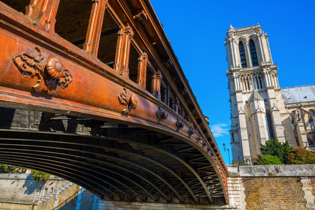 ile de la cite: world famous cathedral Notre Dame de Paris in Paris, France