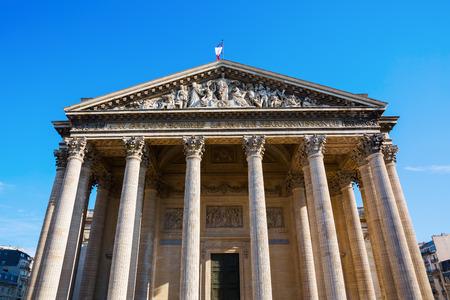 corinthian column: historic Pantheon in the Quartier Latin district in Paris, France Stock Photo