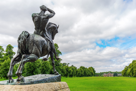 London, UK - June 21, 2016: bronze sculpture Physical Energy at Kensington Gardens in London. It is a bronze sculpture by English artist George Frederic Watts