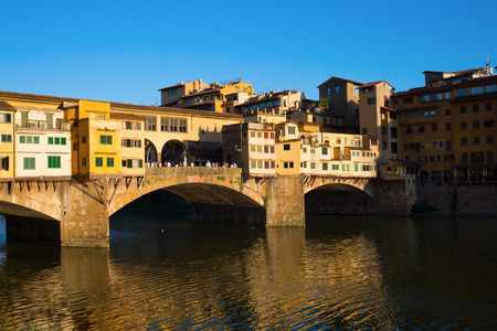 arno: the famous Ponte Vecchio over river Arno in Florence, Italy