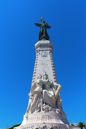 attachment: Nice, France - July 25, 2016: Centennial Monument in Nice, France. The monument was inaugurated March 4, 1896. It celebrates the centennial Nice attachment to France in 1793