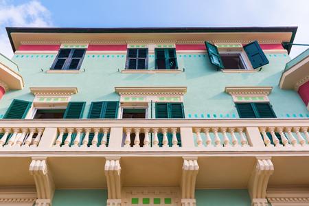 yegua: picturesque building in Monterosso al Mare, Cinque Terre, Italy