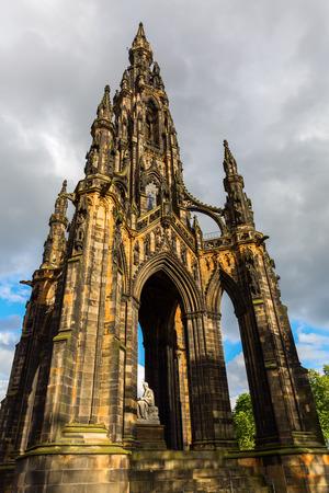 Scott Monument in Edinburgh, Scotland, United Kingdom