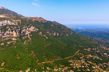 maritimes: picturesque landscape in the Alpes Maritimes, France Stock Photo
