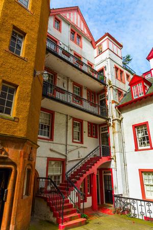 historic buildings: historic buildings in the old town of Edinburgh, Scotland, UK