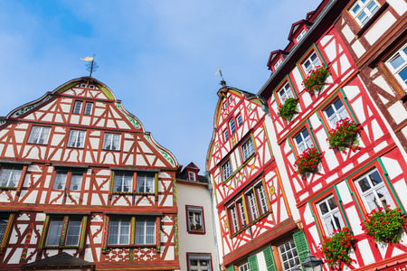 old framework buildings in Bernkastel-Kues, Rhineland Palatinate, Germany Stock Photo