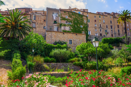 mountain village Seillans in the Provence, France