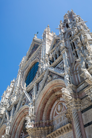 picture of the famous Siena Cathedral in Siena, Italy