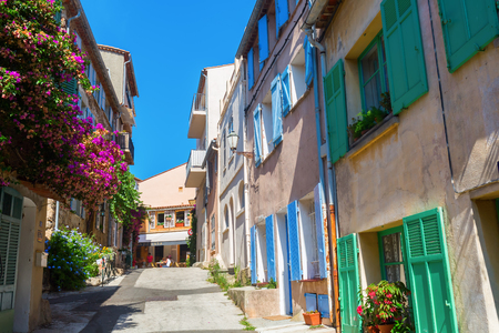 tropez: Saint Tropez, France - August 03, 2016: in the old town of Saint Tropez with unidentified people. St Tropez is a seaside resort at the Cote dAzur and popular for the European and American jet set Editorial