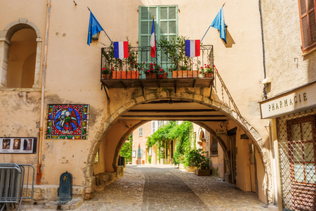 Seillans, France - July 29, 2016: municipality of Seillans. Seillans is a commune in the Var department and has been recognized as one of the prettiest villages of France.