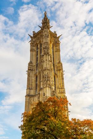 jacques: picture of the Tour Saint Jacques in Paris, France Stock Photo