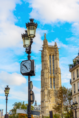 picture of the Tour Saint Jacques in Paris, France Stock Photo
