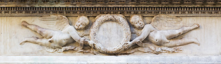 picture of a historical relief in Florence, Italy