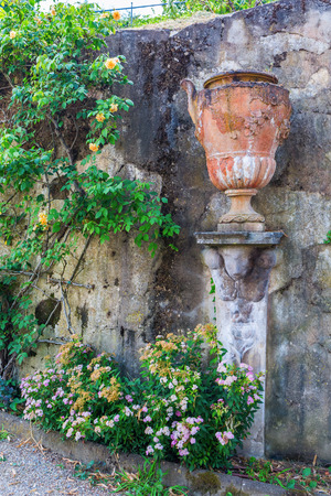 antique earthen jug in Florence, Tuscany, Italy Stock Photo