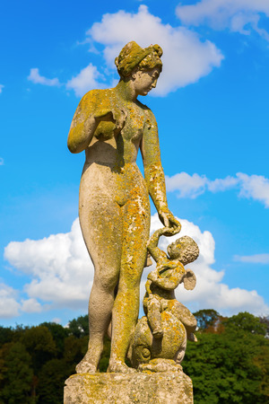 historic sculpture in the park of Nordkirchen Castle, Germany Editorial