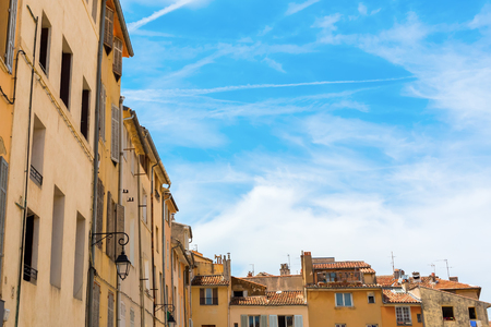 des: old buildings at the Place des Cardeurs in Aix-en-Provence, South France