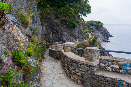 hiking path: coastal hiking path at Monterosso al Mare, Cinque Terre, Italy