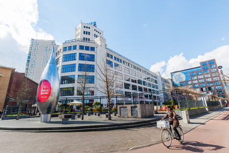 north brabant: Eindhoven, Netherlands - April 12, 2016: modern architecture in the city of Eindhoven. With about 225,000 inhabitants its the 5th-largest municipality of Netherlands and largest of North Brabant