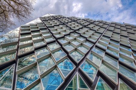 Eindhoven, Netherlands - April 12, 2016: modern residential building in Eindhoven. With about 225,000 inhabitants its the 5th-largest municipality of Netherlands and largest of North Brabant Editorial
