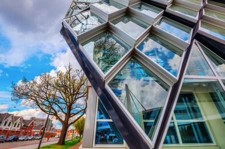 north brabant: Eindhoven, Netherlands - April 12, 2016: modern residential building in Eindhoven. With about 225,000 inhabitants its the 5th-largest municipality of Netherlands and largest of North Brabant Editorial