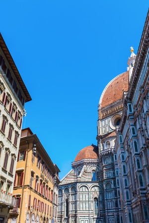 historical cathedral Santa Maria del Fiore in Florence, Italy