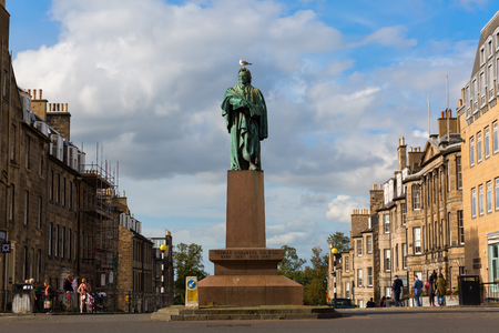 political economist: Edinburgh, UK - September 10, 2016: Thomas Chalmers statue in Edinburgh. He was a Scottish minister, professor of theology, political economist and leader of the Church of Scotland Editorial