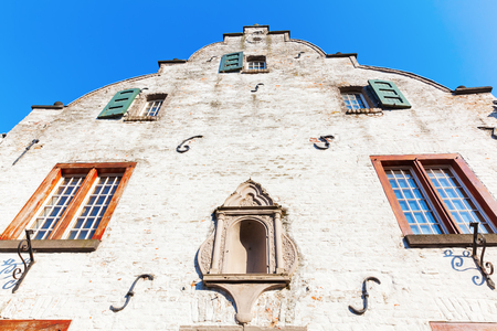 gable of a historical building in Bedburg Alt-Kaster, Germany Stock Photo