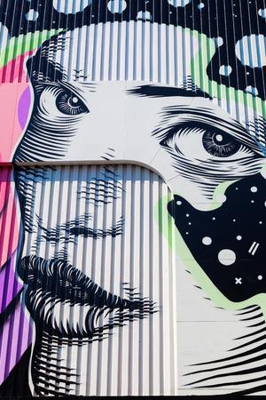 Heerlen, Netherlands - April 11, 2016: fantastic street art in Heerlen. Since a few years Heerlen became a popular place for street art with a lot of great murals