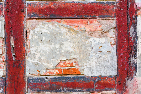 detail of the wall of an old half-timbered house