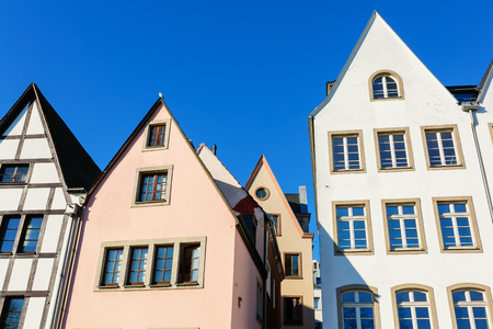 picture of gable fronts of houses in the historical city of cologne, germany