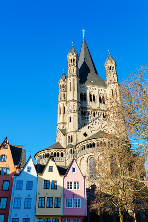 picture of the historical church of St St Martin in Cologne, Germany Publikacyjne