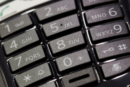 Black phone keypad