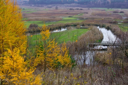 meandering: Meandering river Stock Photo
