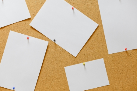 Cork board with blank notes Stock Photo - 17089085