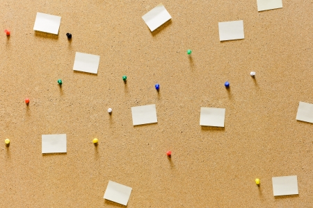 Cork board with blank notes Stock Photo - 17089088