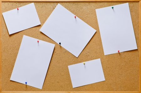 Cork board with blank notes Stock Photo - 17089086
